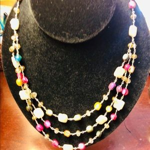 Jewelry - Gorgeous stone 3  tier necklace. 16,18 and 19